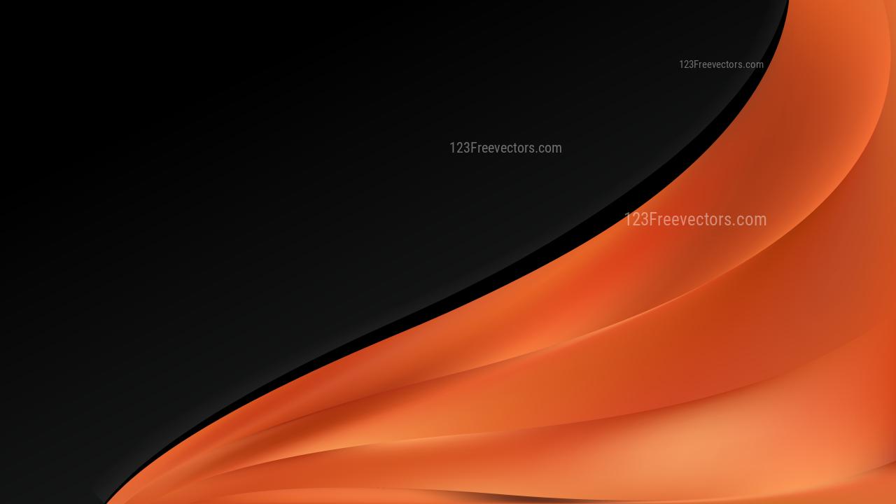 Orange and Black Wave Business Background Vector Art