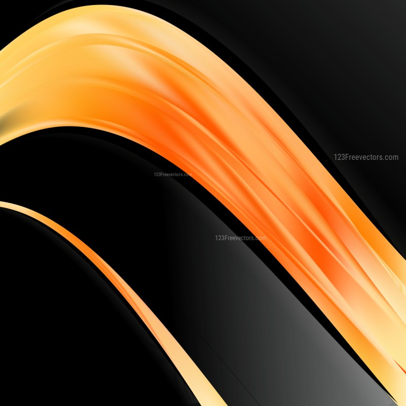 Orange and Black Background Template