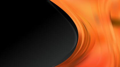 Abstract Orange and Black Wave Business Background