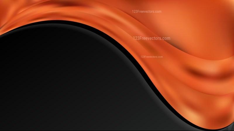 Orange and Black Wave Business Background Image