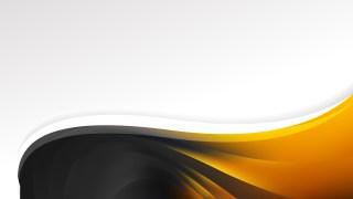 Orange and Black Wave Business Background