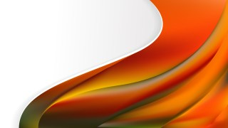 Abstract Orange and Green Wave Business Background Design Template
