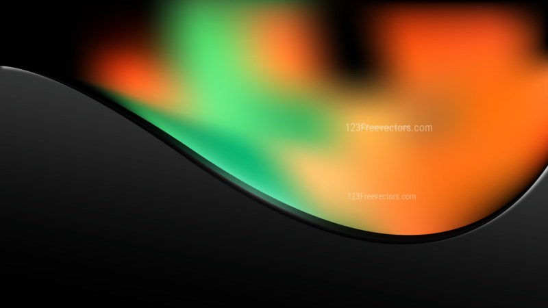 Orange and Green Wave Business Background Vector Illustration