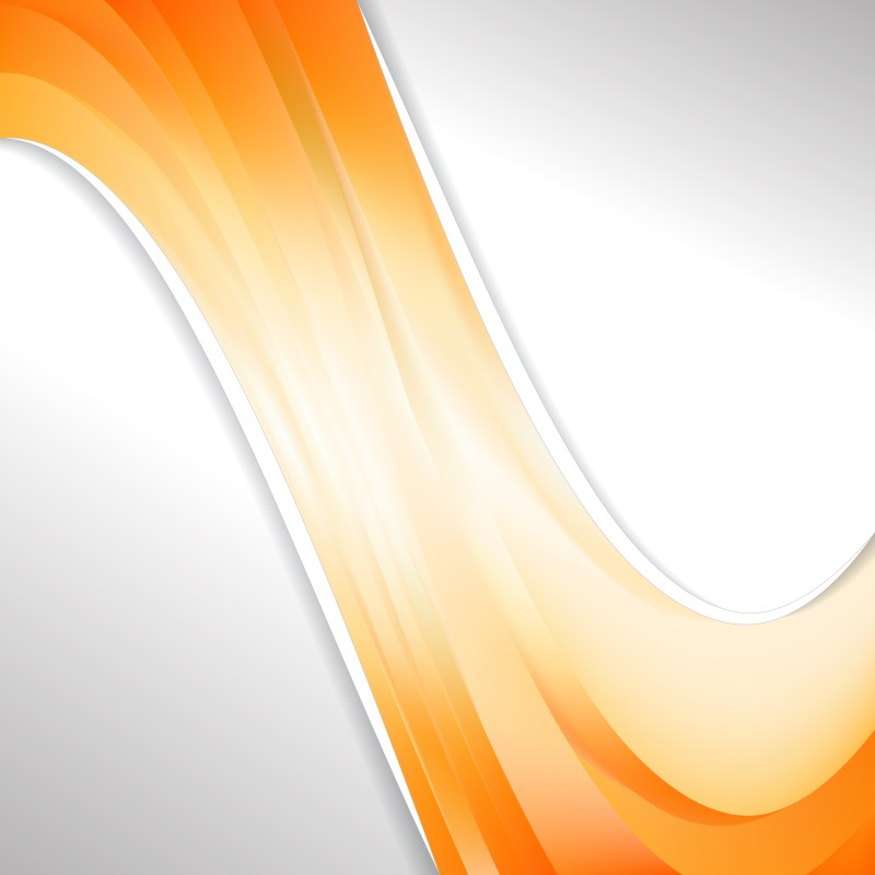 Abstract Orange and White Wave Business Background