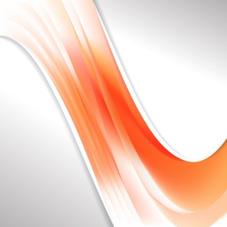 Orange and White Wave Business Background Vector Art
