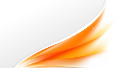 Abstract Orange and White Wave Business Background Design Template