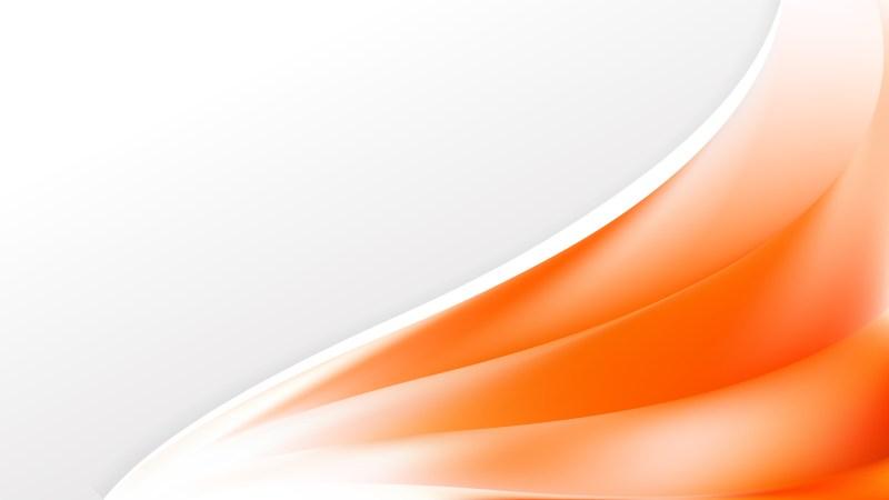 Orange and White Wave Business Background Image