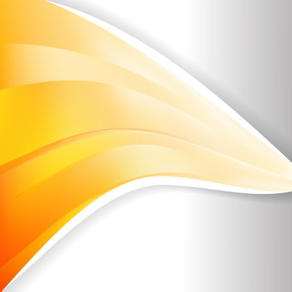 Abstract Orange and White Wave Business Background Illustration