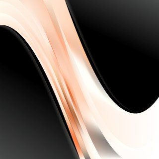 Abstract Orange Black and White Wave Business Background Vector Image