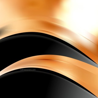 Abstract Orange Black and White Wave Business Background
