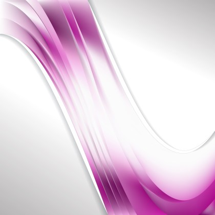 Pink and White Wave Business Background Image