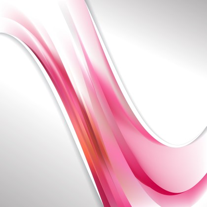 Pink and White Wave Business Background Vector Art