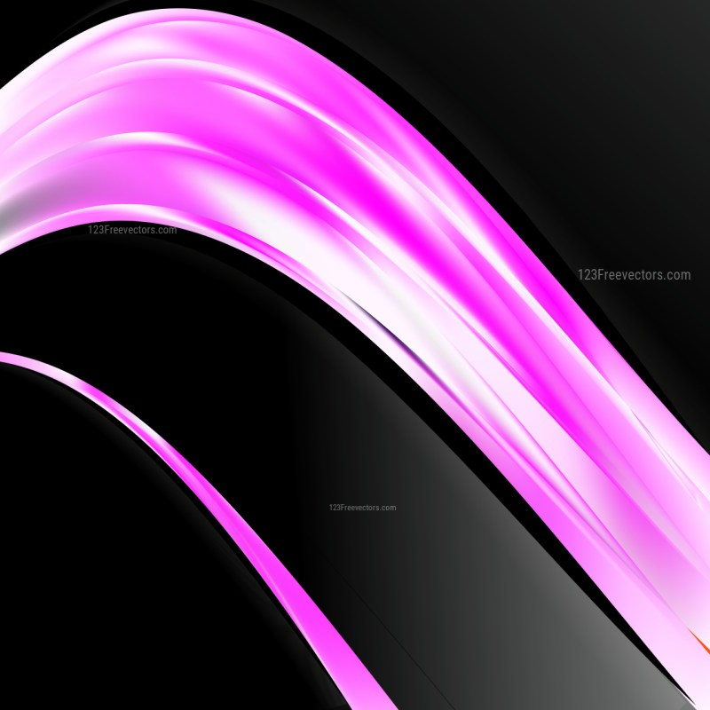 Pink Black and White Wave Business Background Vector Art