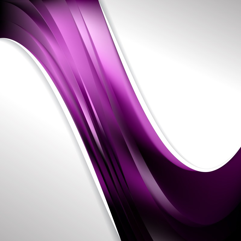 Abstract Purple and Black Wave Business Background Vector Image