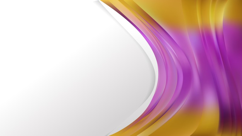 Purple and Gold Wave Business Background Vector Art
