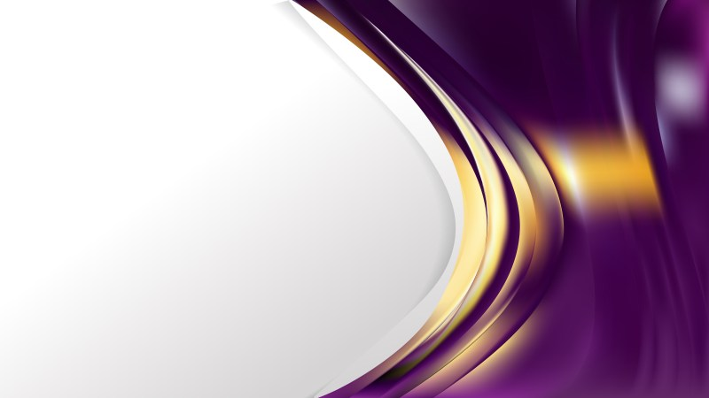 Abstract Purple and Gold Wave Business Background