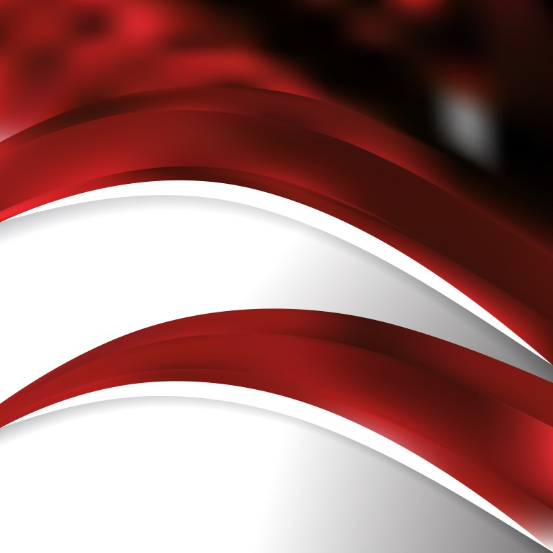 Abstract Red and Black Wave Business Background Vector Image