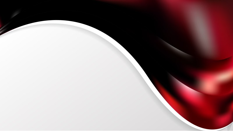 Abstract Red and Black Wave Business Background Design Template