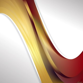 Red and Gold Wave Business Background Vector Art