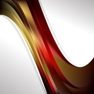 Abstract Red and Gold Wave Business Background