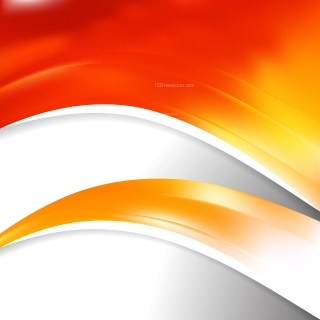 Red Orange and White Wave Business Background Vector Illustration