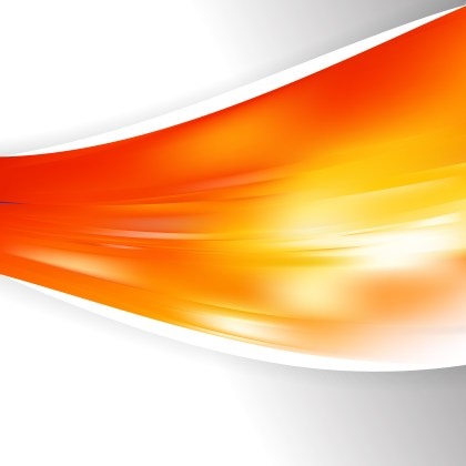 Red Orange and White Wave Business Background