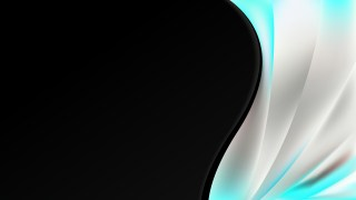 Turquoise Black and White Wave Business Background