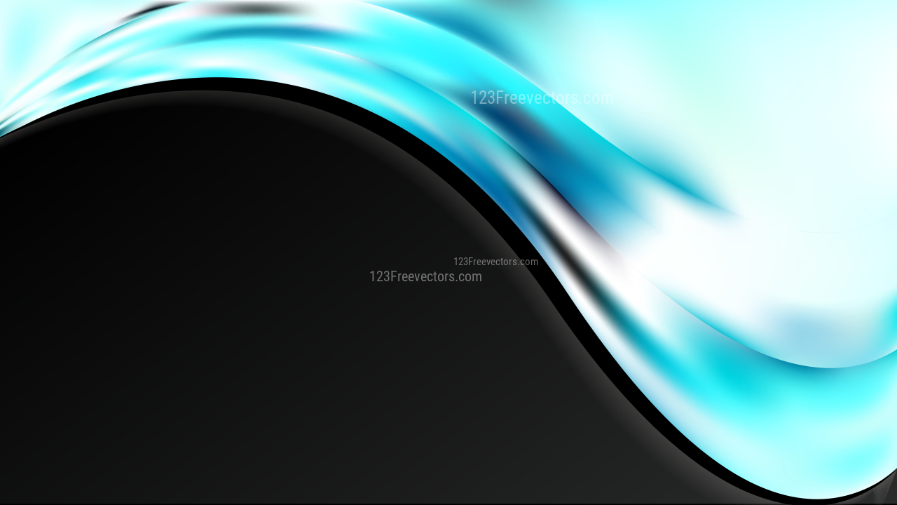 Turquoise Black and White Wave Business Background Image