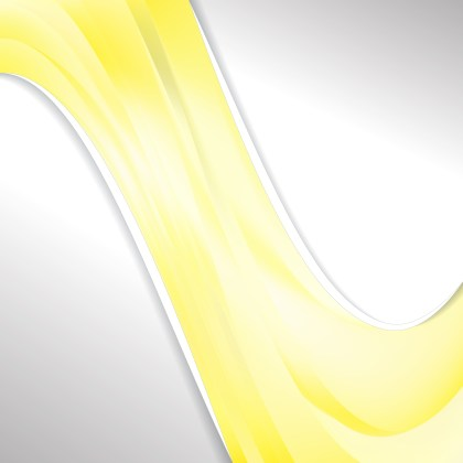 Abstract Yellow and White Wave Business Background