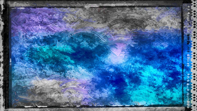 Abstract Black and Blue Glass Effect Paint Background