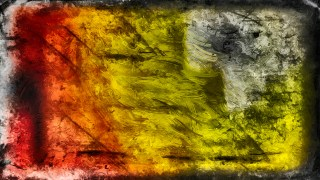 Abstract Black Red and Yellow Glass Effect Paint Background