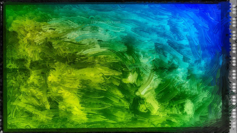 Abstract Blue and Green Glass Effect Painting Background Image