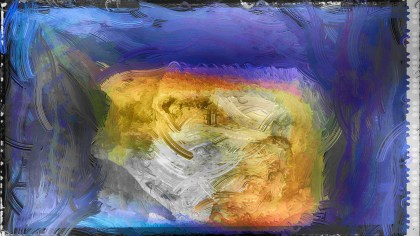 Abstract Blue and Orange Glass Effect Painting Background