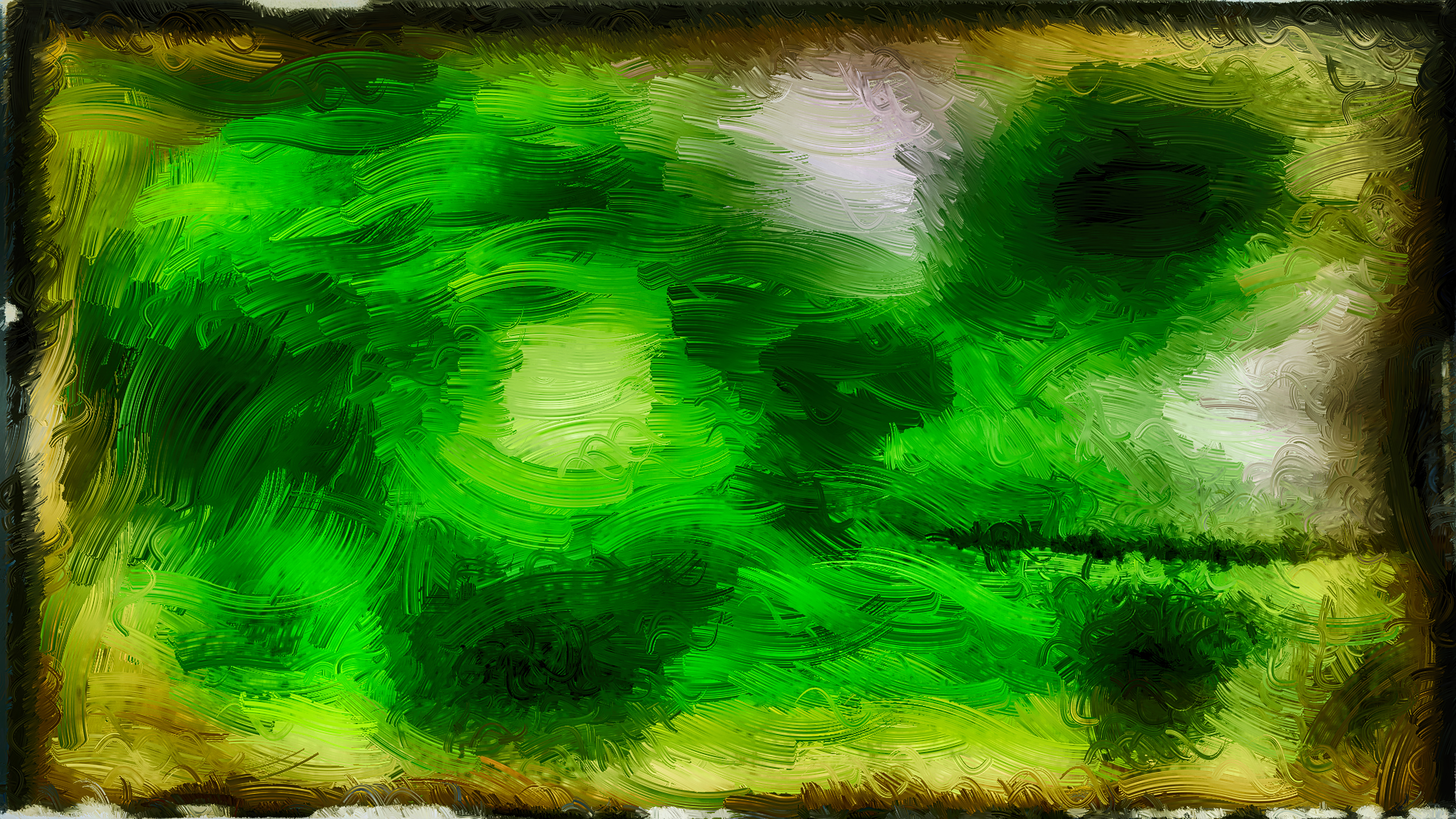 Abstract Dark Green Glass Effect Painting Background Image