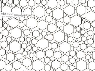 Black and White Polygon Shape Background