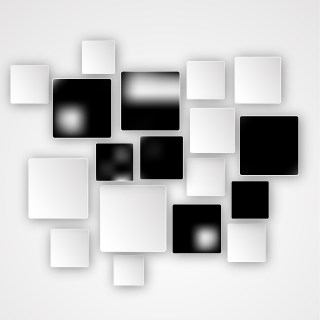 Modern Abstract Black and White Squares Background Graphic