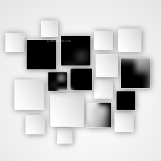 Modern Black and White Square Abstract Background Illustration