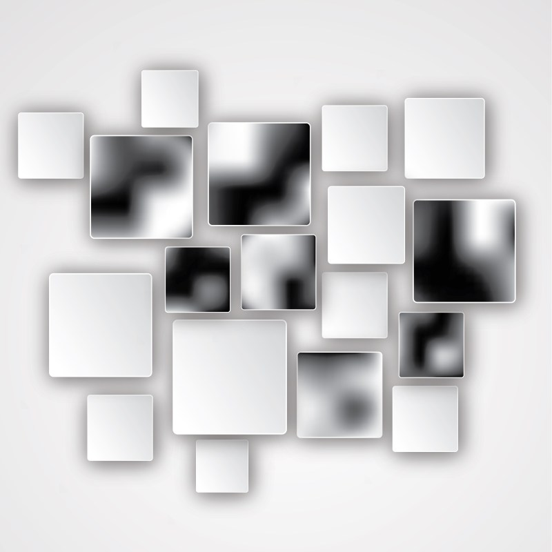 Modern Black and White Square Background