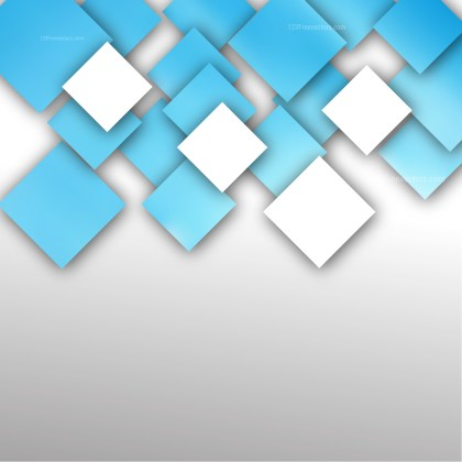 Modern Blue and White Square Background