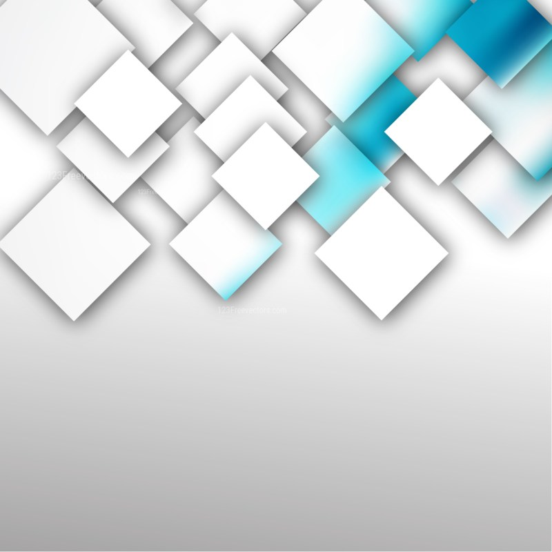 Modern Blue and White Square Abstract Background