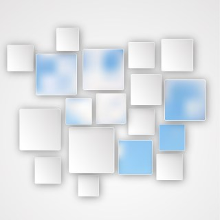 Abstract Blue and White Square Modern Background