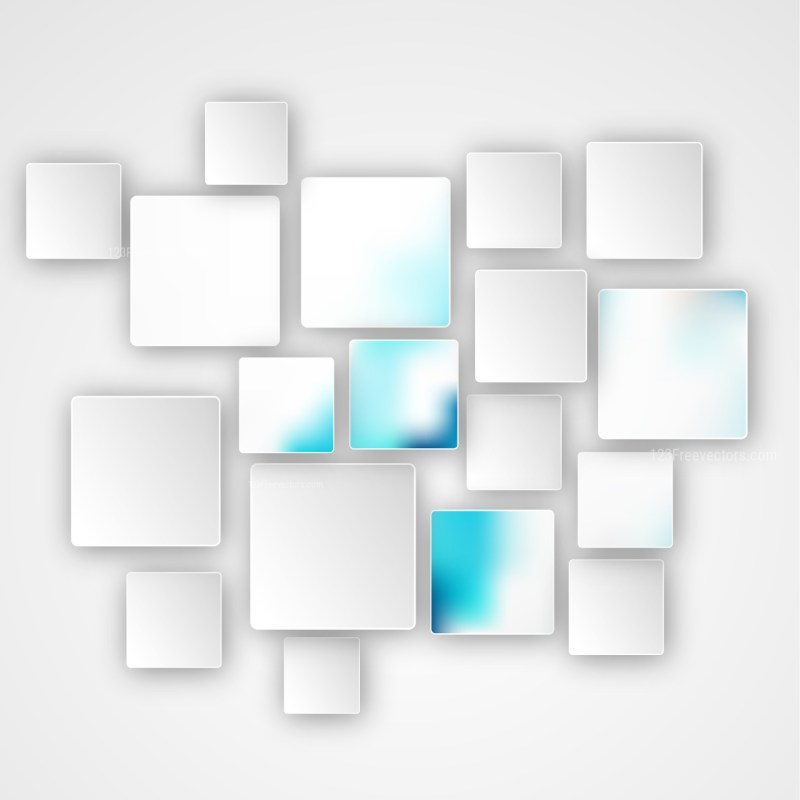 Modern Abstract Blue and White Squares Background Graphic
