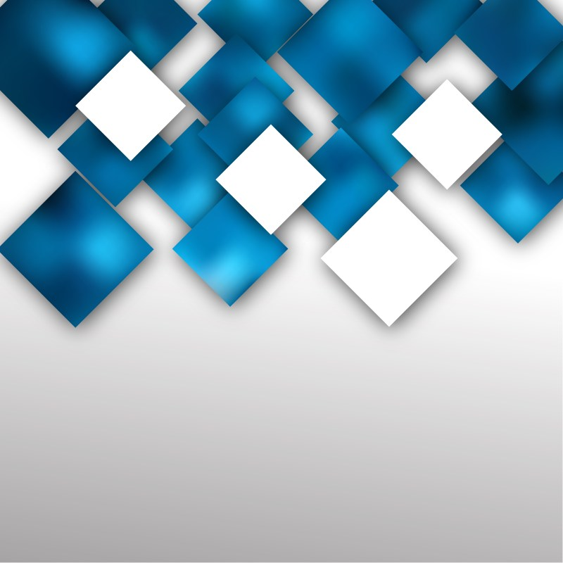 Abstract Blue and White Modern Square Background