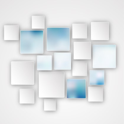 Modern Blue and White Square Abstract Background Illustration