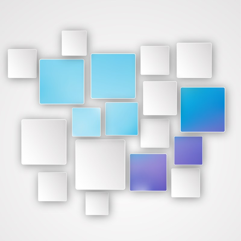 Abstract Blue and White Square Background Illustration