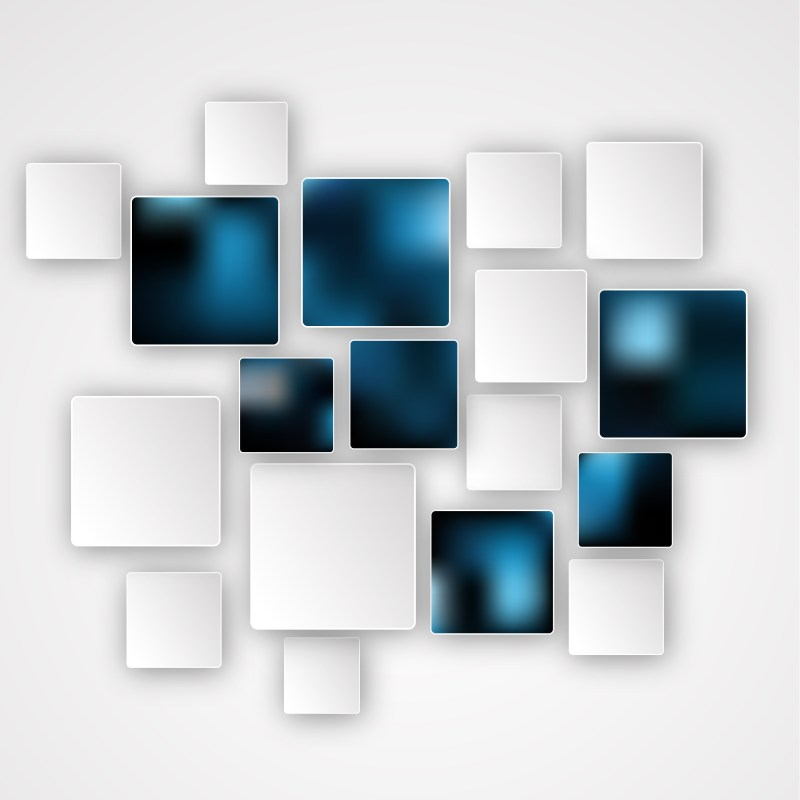 Modern Abstract Blue Black and White Squares Background
