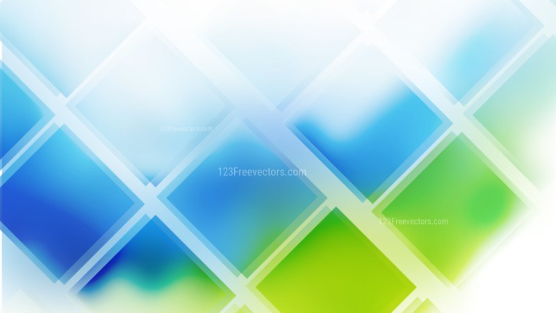 Abstract Blue Green and White Square Lines Background