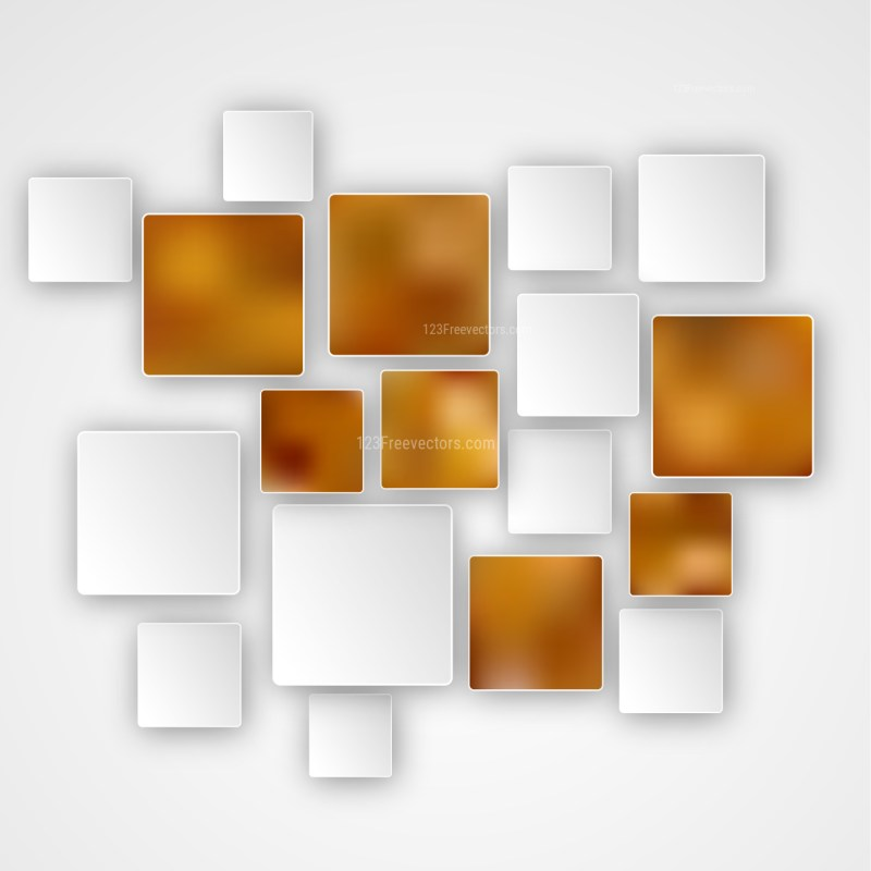 Abstract Brown and White Modern Square Background Template