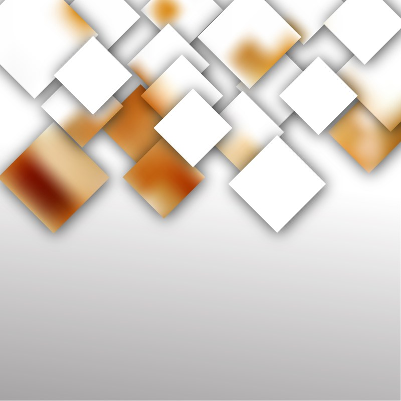 Brown and White Abstract Modern Square Background Illustration