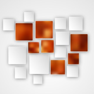 Abstract Brown and White Square Modern Background